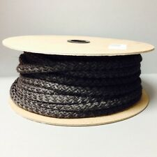 "200' Ft Spool 5/16"" Black Fiberglass Rope Gasket AW Perkins 153 Stove Door Seal"