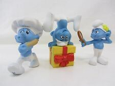 3 Lot - SMURFS Payo 2011 McDonalds  JOKEY, VANITY and BAKER figure toy