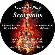 Scorpions Guitar TAB Lesson CD 185 Songs + Backing Tracks + BONUS!