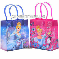6 Pcs Princess Cinderella Authentic Licensed Small Party Favor Goodie Gift Bags