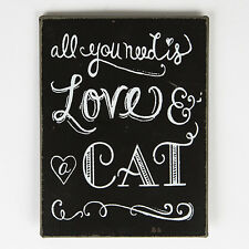 Small All You Need Is Love And A Cat Metal Tin Magnet