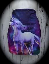 Galaxy Unicorn Mini Skirt - Size 12 14 - Bodycon Animal Mythical Nature Winter