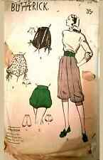 Vintage 40's-50s PANTS*TROUSERS* BLOOMERS* SHORTS* BUTTERICK Sewing Pattern
