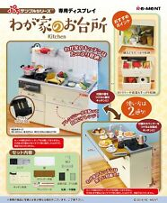 Re-Ment Miniature Kitchen Cabinet with Stove and Sink Full Set