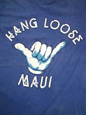 Vintage Hang Loose Maui Hawaii Surfboards Skateboards Rock On T Shirt S