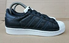 GORGEOUS ADIDAS SUPERSTAR SHELL TOE TRAINERS IN SIZE 4 UK BLACK SEQUIN SOLD OUT