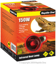 Reptile One R1-46559 Heat Lamp Infrared Medi 150W E27 Screw Fitting for Reptiles