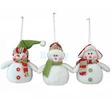 3pcs Snowman Christmas Tree Decoration Christmas Xmas Hanging Ornament Gift