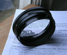 genuine Mamiya Press extension ring  tubes  no.1 & no.2 body & lens mounts