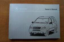 1999 Mercedes ML320/ML430 Owners Maual-W163-New Old Stock Discontinued