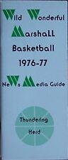 1976-77 MARSHALL THUNDERING HERD BASKETBALL MEDIA GUIDE