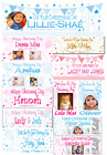 Personalised christening banners PHOTO party decorations blue pink boys girls