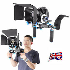 UK NEW DSLR Rig Kit Shoulder Mount Rig with Follow Focus and Matte Box