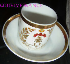 TASSE A CAFE - ORDRE DE SAINT LOUIS - PORCELAINE DE PARIS - 1815