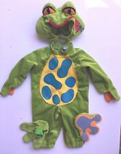 FROGGY FROG  Halloween Costume Small S * 4 pieces Green boys girls kids toddler