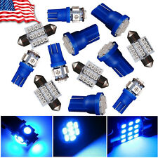 12x Blue LED Interior Package for T10 & 31mm Map Dome License Plate Light Bulbs