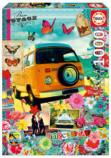 Puzzle Educa 17103 Bon Voyage, 1000 piezas, collage, Arte, color, teile