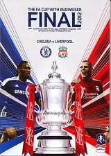 FA CUP FINAL 2012 CHELSEA v LIVERPOOL MINT PROGRAMME