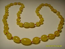Authentic Butter  Genuine Baltic Amber necklace 8.42gr.  A-287