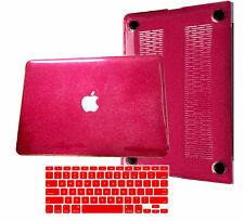 Sparkle Bling Shinny Hard Glitter Case +KB Cover For Macbook Pro Air 11 12 13 15