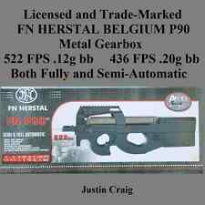 FN Herstal Licensed /Trademarked P90 Metal Gearbox 522FPS Electric Airsoft Rifle