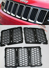 Black Front Mesh Grille honeycomb Insert trim kit Jeep Grand Cherokee 2014-2016