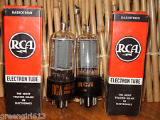 2 Vintage RCA 6BQ6 GT Radio Tubes Very Strong Results= 7600 7750
