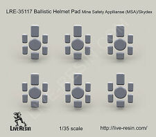 Live Resin LRE35117 1/35 Ballistic Helmet Pad Mine Safety Appliances MSA/Skydex