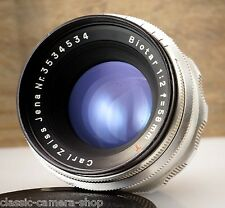 Bobsleigh m42 objectif carl zeiss JENA Biotar 2/58 red t 58mm f/2 * 12 lamelles