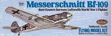 Guillows 505 LC Balsa Wood Messerschmitt Bf-109 Kit 1/32 Tracked Post