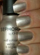 NEW! Sephora by OPI nail vernis polish in QUEEN OF EVERYTHING Silver Frost metal