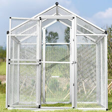 Large Gentle Animals House Aluminum Bird Cage Pet Poultry Walk in Aviary HSF