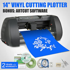 "14"" VINYL CUTTER SIGN CUTTING PLOTTER 375MM W/STAND 3 BLADES ARTCUT SOFTWARE"