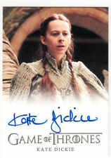 KATE DICKIE Autograph AUTO Card GAME OF THRONES SEASON 4