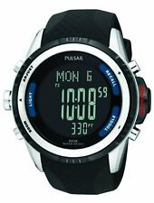 Pulsar Men's PS7001 Tech Gear Digital Watch  altimeter, barometer, and thermomet