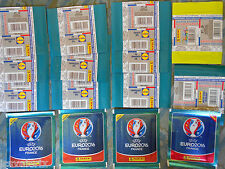 11 packet bustine diverse figurine Panini stickers euro france 2016 LIDL merkur