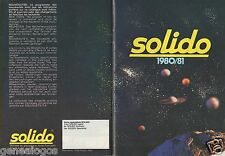 CATALOGUE SOLIDO 1980/1981 1/43 48 PAGES 14 CM X 19,50 CM MILITAIRE CIRQUE FIRE