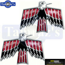 67-68 Firebird Front Fender Emblems Pair OER New