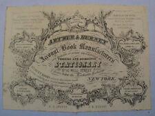 1854 New York City NYC Tax Arrear Ledger