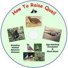 HOW TO RAISE QUAIL - 125 Manuals on CD