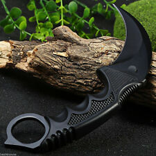 CSGO Black Karambit Fixed Blade Knife Sharp Fishing Hunting Survival Rescue Gift