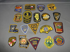 Lot of 19 - Vtg. Police/Law Enforcement Patches - Police, Highway Patrol, Other