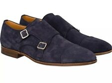 600$ Bally Double Monk Strap Suede Shoes Size US 13 Made in Switzerland