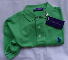 "Ralph Lauren Purple Label POLO CAMICIA MADE IN ITALY ""Bright Green"" Taglia L"