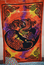 Dragon-Tiger Yin Yang Tapestry Twin Size Bedding Tapestry Wall decor Hanging_p
