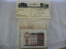 1/144th scale French Quarter Row House Miniature Dollhouse Wood Kit #812