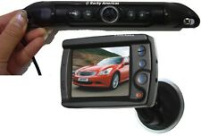 "CCD LICENSE PLATE IR WIDE ANGLE REAR VIEW BACKUP CAMERA &3.5"" WINDSHIELD TFT LCD"