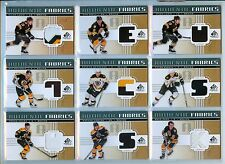 NATHAN HORTON 2011-12 SP GAME USED AUTHENTIC FABRICS JERSEY BRUINS