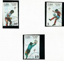 1990 ITALIA MONDIALI DI CALCIO Serie di tutti e 3 COMMEMORATIVE STAMPS VFU