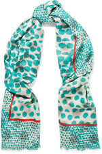 Marc by Marc Jacobs Lynne printed metallic twill scarf